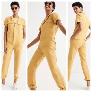 NWT MADEWELL Coverall Jumpsuit Yellow J1840